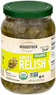 Woodstock Organic Sweet Relish, Sweet and Tangy, 16 ounces