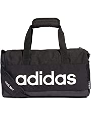 adidas Unisex Linear Core X-Small Duffel Bag, Black/Black/White
