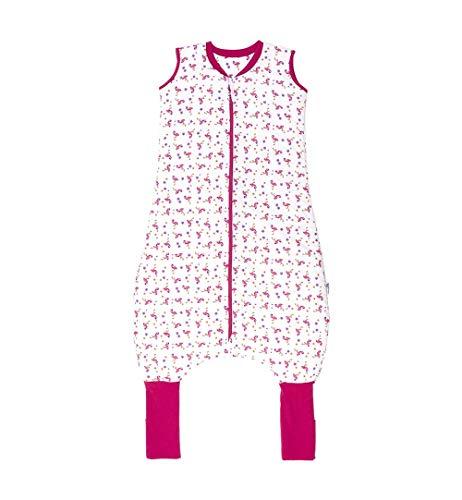 Schlummersack Ganzjahres Schlafsack mit Beinen und verlängerten Fußbündchen zum Umklappen 2.5 Tog - Flamingo - 100 cm