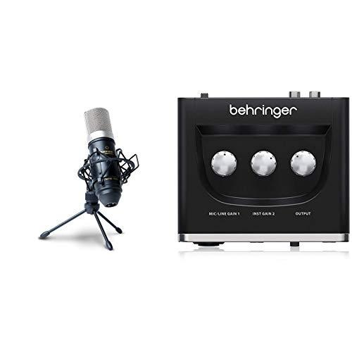 Marantz Professional MPM-1000Мicrófono de Condensador para grabaciones de Estudio con Soporte de Escritorio y Cable + Behringer U-PHORIA UM2 Equipos de música adicionales