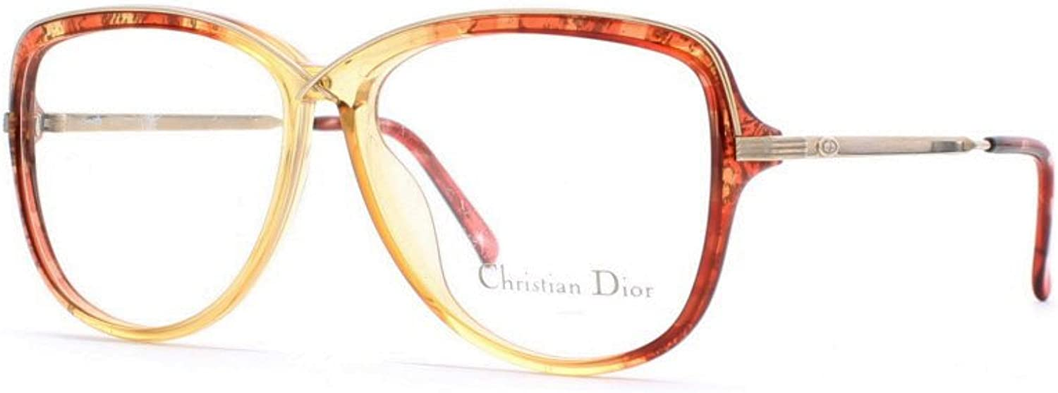 Christian Dior 2530 30 gold and Red Authentic Women Vintage Eyeglasses Frame