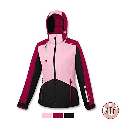BRUGI Offerta ski-jack dames AA2T oranje roze lichtblauw van S tot XL