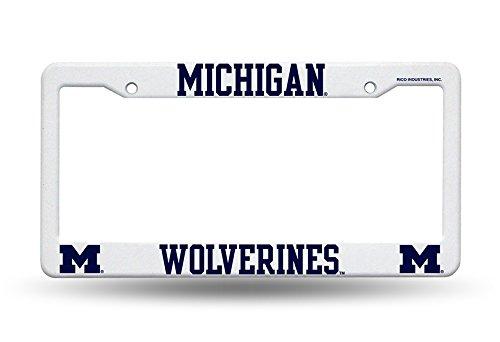 Rico Industries NCAA Michigan University/Plastic Frame Sports Fan Automotive Accessories, Multicolor, One Size
