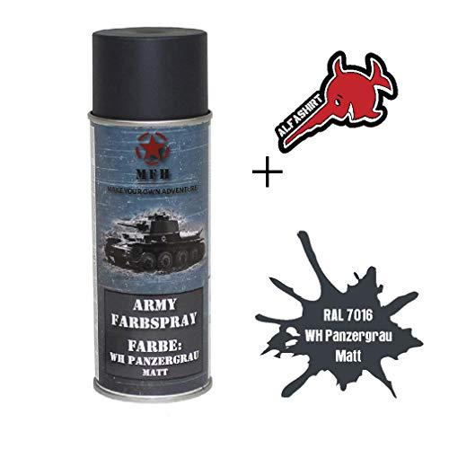 Army Farbspray RAL 7016 WH Panzergrau Anthrazitgrau Marine Wehr Militär #31737