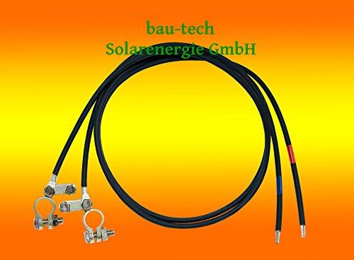 2 Meter Batterie Anschlusskabel 16mm² (Laderegler auf Batterie) von bau-tech Solarenergie GmbH