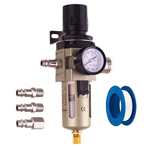 Druckluft Filter Wartungseinheit Bis 14 BAR Druckminderer Regler für Kompressor 1/4