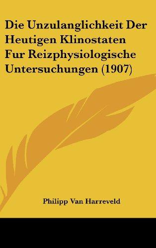 Die Unzulanglichkeit Der Heutigen Klinostaten Fur Reizphysiologische Untersuchungen (1907)