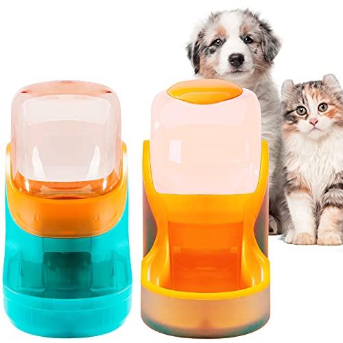 XingCheng-Sport Alimentador automático para Mascotas pequeñas y Medianas. Alimentador automático y dispensador de Agua 3.8L (Orange tkc)