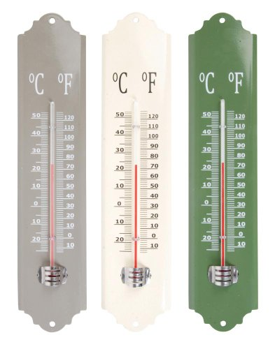 esschert Design el026 30 x 7 x 1 cm Thermomètre Métal – Multicolore