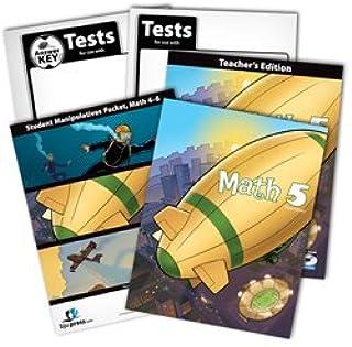 BJU Math 5 Subject Kit--Worktext, Teacher with CD, Manipulative Kit (grades 4-6), Tests, and Keys
