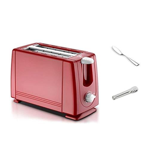 WCJ Tostadora de 2 rebanadas tostadora, 7ª Velocidad, Completamente automática Tostador, Casa Desayuno tostadora de Acero Inoxidable Liner Rot 680 W
