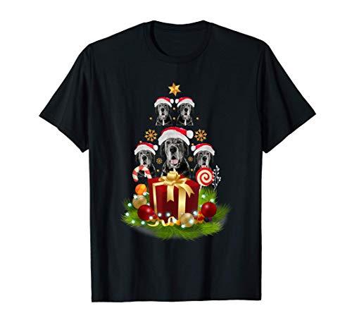 Santa Great Dane Christmas Tree Xmas Gift for Great Dane T-Shirt
