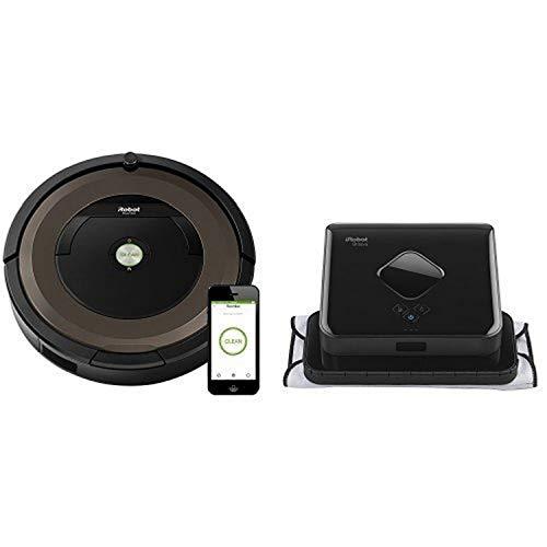 iRobot Roomba 890 Robot Vacuum with Wi-Fi Connectivity & iRobot Braava 380t Robot Mop
