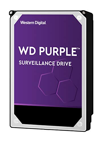 WD Purple 1TB Surveillance Hard Drive – 5400 RPM Class, SATA 6 Gb/s, 64 MB Cache, 3.5″ – WD10PURZ