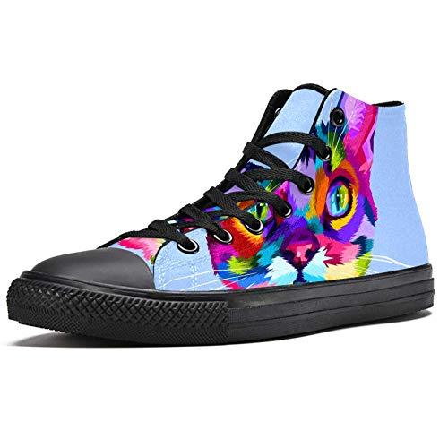 LORVIES - Zapatillas deportivas de tela para hombre, (multicolor), 44 EU