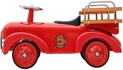 Midiao Bébé Équilibre Voiture avec siège et la Salle de Roues Enfants Tir Props Métal Baby Steps Walker Toy for Les Enfants de Plus de 3 Ans (Color : Red, Size : 76.7x27x34.5cm)