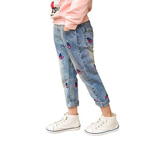 Dosige Jeans per Bambini da 8 a 12 Anni Jeans da Donna Fashion Modello in ciliegio Jeans...