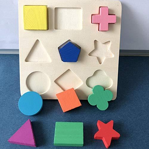 aheadad - Modelo de Madera Blocks - Juego de Figuras de puzle Multicolor - Juguetes educativos de Madera - Regalo para los Gorros del niño Resistente y útil