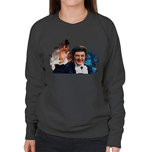 TV Times Singer Liberace Paint Splatter Vrouwen sweatshirt