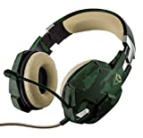 Trust Gaming GXT 322C Carus Auriculares Gaming con Microfono (PC, PS4, Xbox One, Switch) Verde Camuflaje