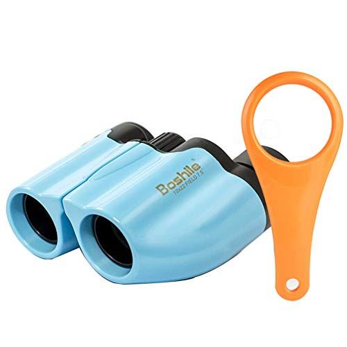 FENGTING Ferngläser 10x22 Kinder Niedliche Umweltschutzmaterial Wasserdicht Geeignet für Kinder Geschenke Anzeigen von Konzertleben Entdeckung (Color : Blue)