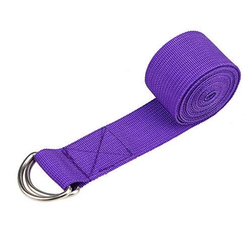 Gmgod❤️❤️1x Yoga High Density Ribbon 320cm Yoga Stretch Strap D-Ring Belt Stretching Band (Purple)