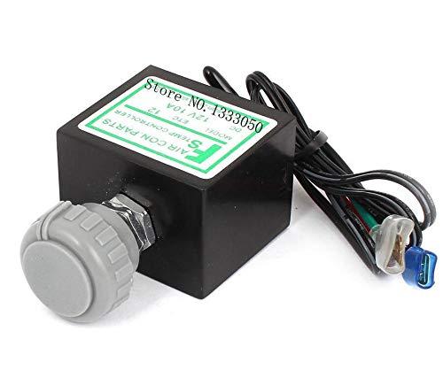 CROSYO Vehículo Gris Perilla de plástico Control de Temperatura refrigerador termostato DC24V   12V 10A (tamaño : 24V)