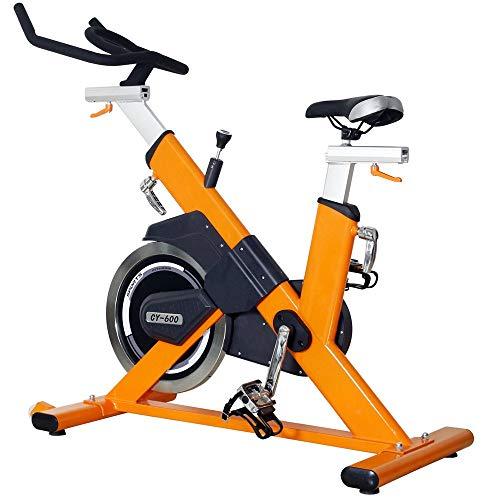 Bicicleta de spinning para interior o interior, para gimnasio, para interior o interior, para entrenamiento aeróbico, para uso en casa y gimnasio (color naranja: 118 x 56 x 120 cm)
