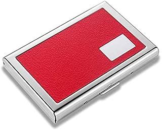 OFIXO RFID Credit Card Holder Protector Stainless Steel Credit Card Wallet Slim RFID Metal Credit Card Case for Women or Men (RED ATM)