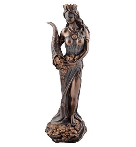 Fortuna - Statua di dea romana della fortuna, bronzata
