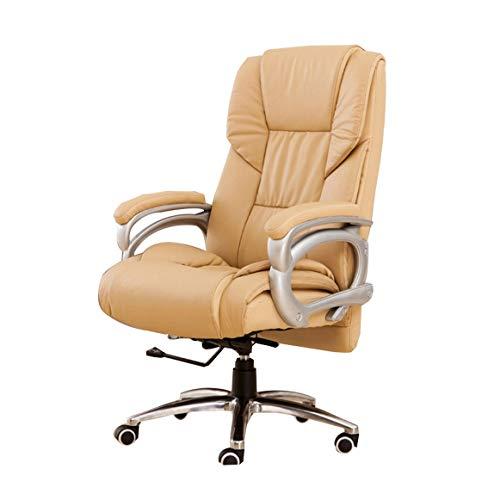 Swarouskl Professionelle Gamer Stuhl-Sitz Bürostuhl, Groß gepolsterter Sitz, Leatherette for höhenverstellbare, ergonomische (gelb)