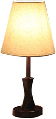 FERZA Home Lámpara de Escritorio de Madera Simple Lámpara de Noche de Moda Creativa Lámpara de Mesa Decorativa de la Sala Lámpara de Mesa