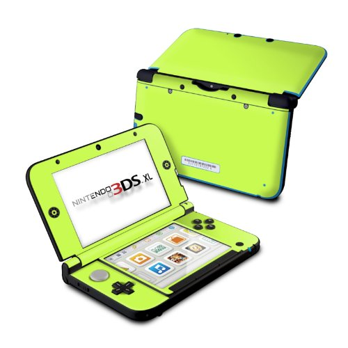 Solid State Lime - DecalGirl Sticker Wrap Skin Compatible with Nintendo Original 3DS XL
