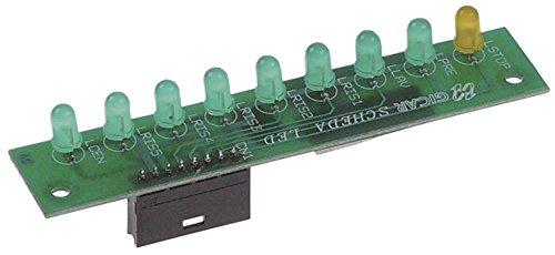 Weergaveplaat voor wasmachine, lengte 100 mm, breedte 20 mm.