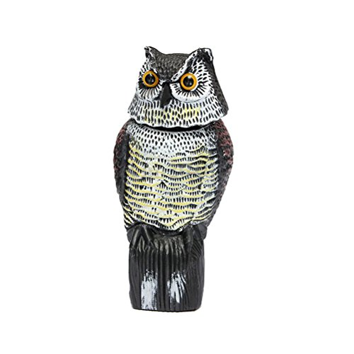 Ounona - Hibou effaroucheur d'oiseaux avec tête rotative