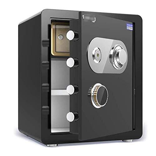 ZBM-ZBM Veiligheid Veilig Mechanische Code Sleutelkast Met Partitie 22mm Lock Bout Bronzen Kast Kluis Voor ID-Papieren, A4-documenten, Laptop Computers, Juwelen Inclusief 2 Noodsleutels Digitaal Veilig 45 × 38 × 33CM