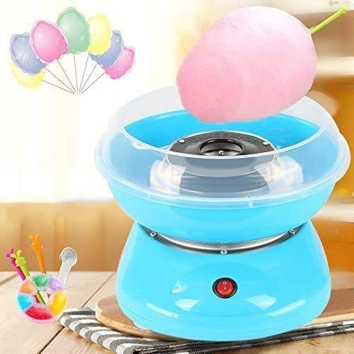 Prakal 220V 450W Candy Floss Makers Electric Cotton Candy Machine Sugar Mini Portable Cotton Sugar Floss Machine for Kids (multi color)