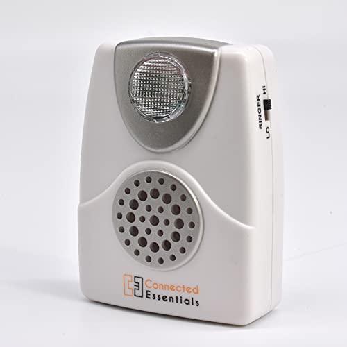 Alerta de llamada audible y visual con luz intermitente y volumen de timbre ajustable (bajo y alto) — adecuado para ambientes ruidosos y con dificultad auditiva —
