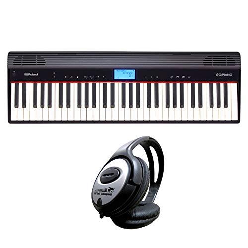 Roland GO-61P Go Piano tastiera digitale Nero + cuffie keepdrum