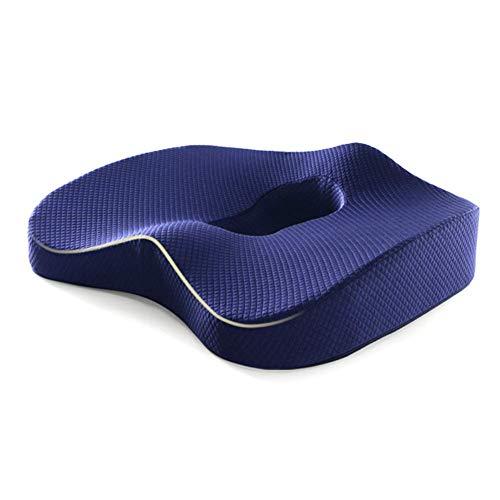 Y-L Memory Foam Kussens voor Stoelen voor Aambeien Pijnstiller Kussen voor Drukzweren, Blauw