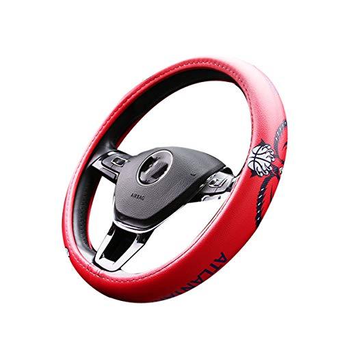Universele Cartoon Auto Stuurhoes, Mode Anime Slip Ademende Stuurhoes Microfiber Leer 15 Inch 38cm Stuurhoes Voor Auto's, Vrachtwagens, Suv