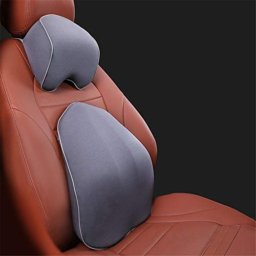 DLSMB Back Cushion Lumbar Support Lumbar Support Pillow Back Cushion Memory Foam Orthopedic Backrest For Car Seat Office Computer Chair (Color : Gray)