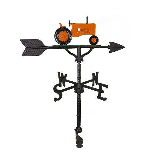 Montague Metal Products Wetterfahne mit orangefarbenem Traktor, 81 cm