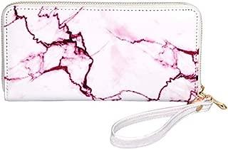 Marble Printing Mirror PU Leather Long Money Purse Women Elegant Wallets Zipper Large Card Holder Luxury Handy Wallet Clutch Bag