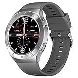 LXQGR Smart Watch 1.3 Pollici HD Schermo Rotondo IP68 Impermeabile Multifunzionale Smart Watch Cinturino in Silicone Argent
