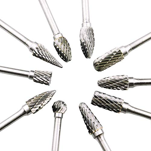WELife 10pcs 1/8 inches and 1/4 In Head Shank Double...