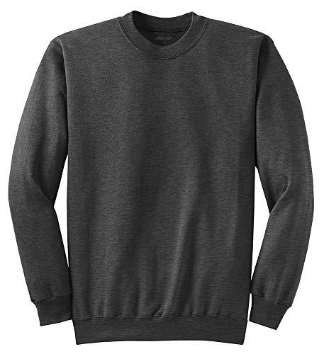 Joe's USA - Soft & Cozy Crewneck Sweatshirts, M Dark Heather