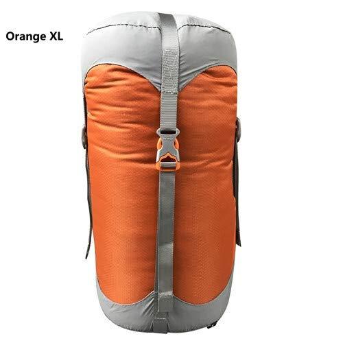 Générique Sac de Compression en Nylon pour Sacs de Couchage - 4 Couleurs - 4 Tailles - Némo - Couleur : Orange XL
