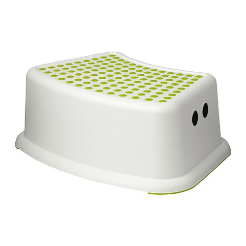 IKEA - Tritthocker für Kind, FÖRSIKTIG weiß/grün