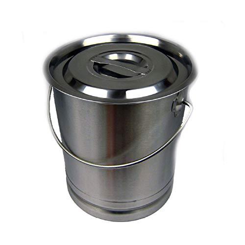 Eimer Kücheneimer Futtereimer Milcheimer Sektkühler Edelstahl 8 Liter Deckel BK3020A + Skala